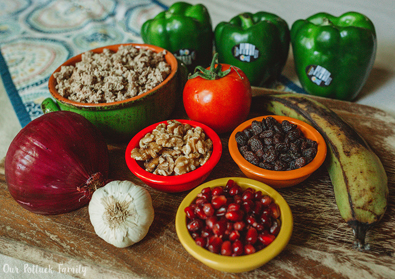 Mexican Stuffed Pepper ingredients
