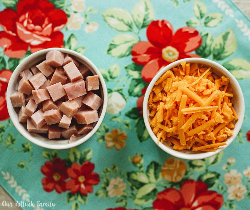 Easter Brunch Casserole ham cheese