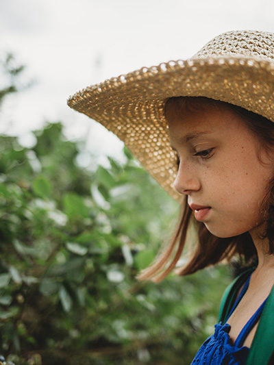 Florida Blueberry Picking girl profile