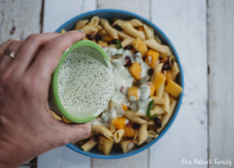 Tropical Pasta Salad dressing