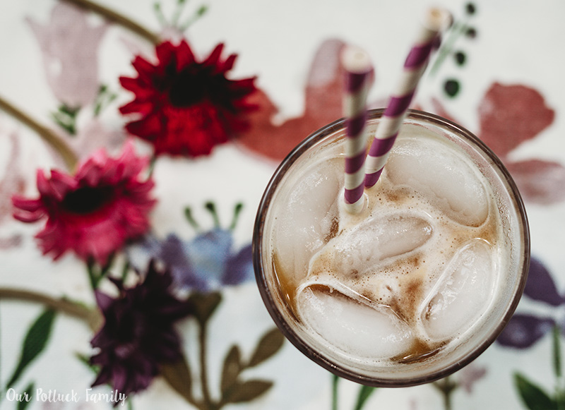 Lavender Vanilla Iced Latte above