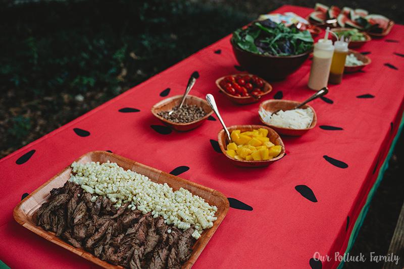 Ultimate Salad Bar Party steak