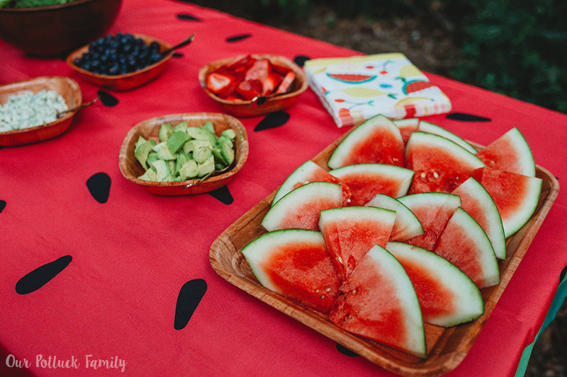 Ultimate Salad Bar Party watermelon
