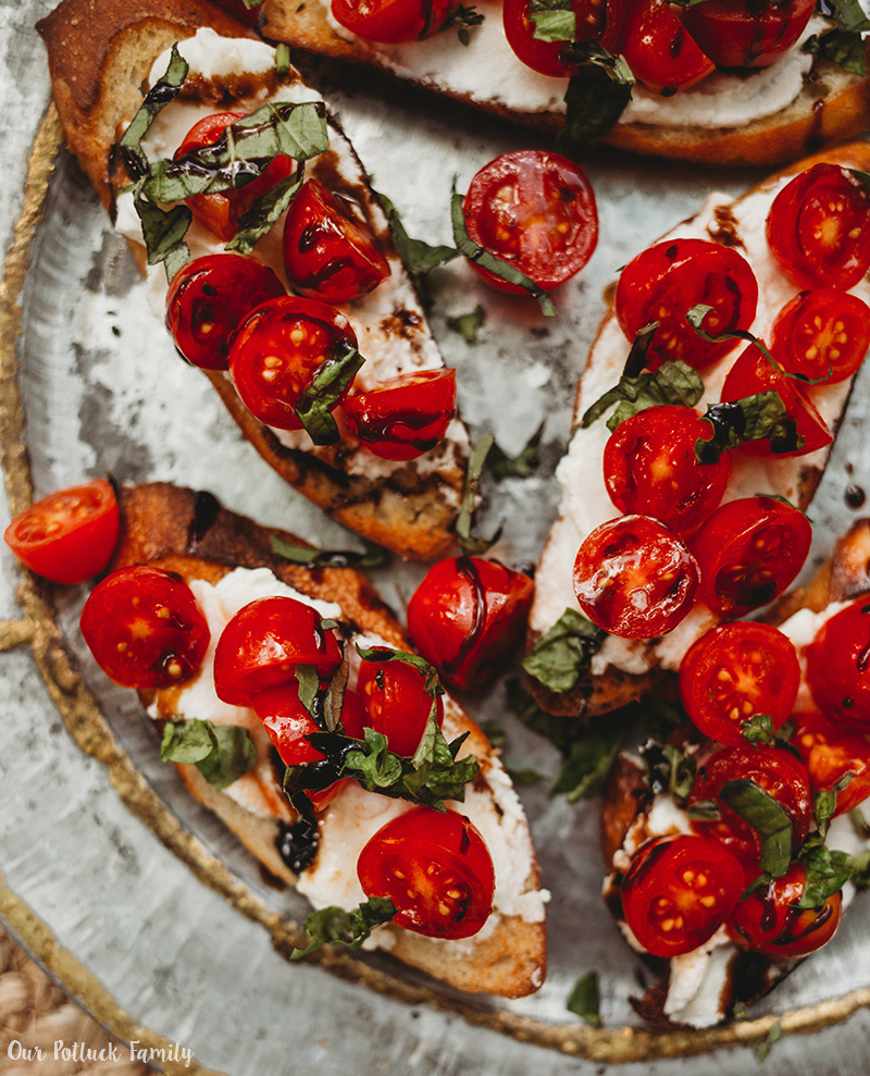 Cherry Tomato Crostini platter