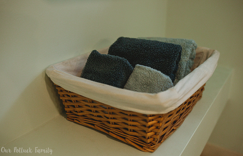 Summer Bathroom Makeover towels