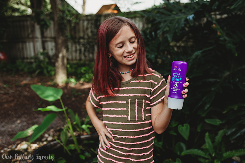 girl with Aussie conditioner
