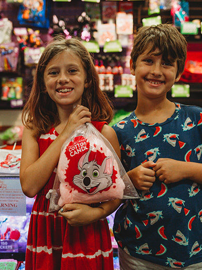 Chuck E. Cheese's Birthday prizes