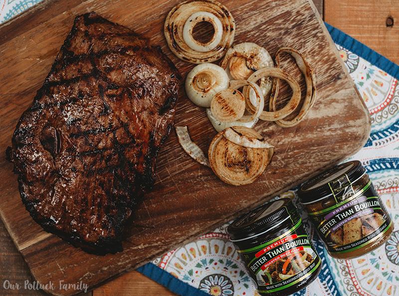 Grilled Steak Flatbread bouillon