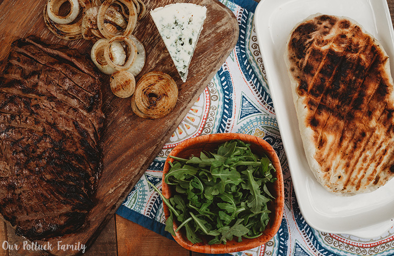 Grilled Steak Flatbread ingredients