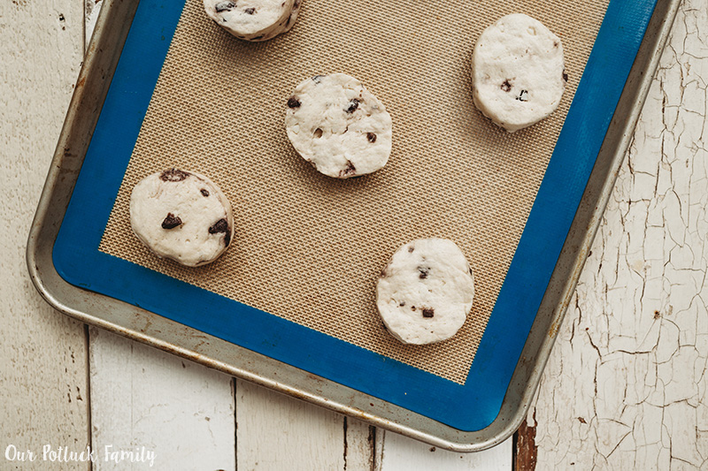 Sweet Blueberry Biscuits bake