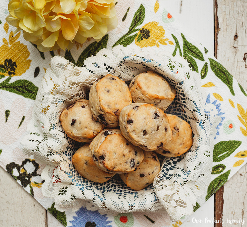 Sweet Blueberry Biscuits baked