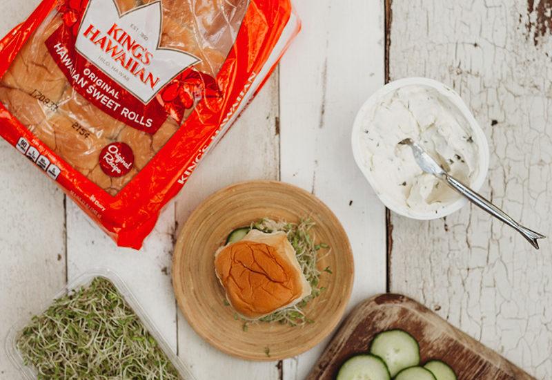 Delicious Vegetarian Sandwich complete
