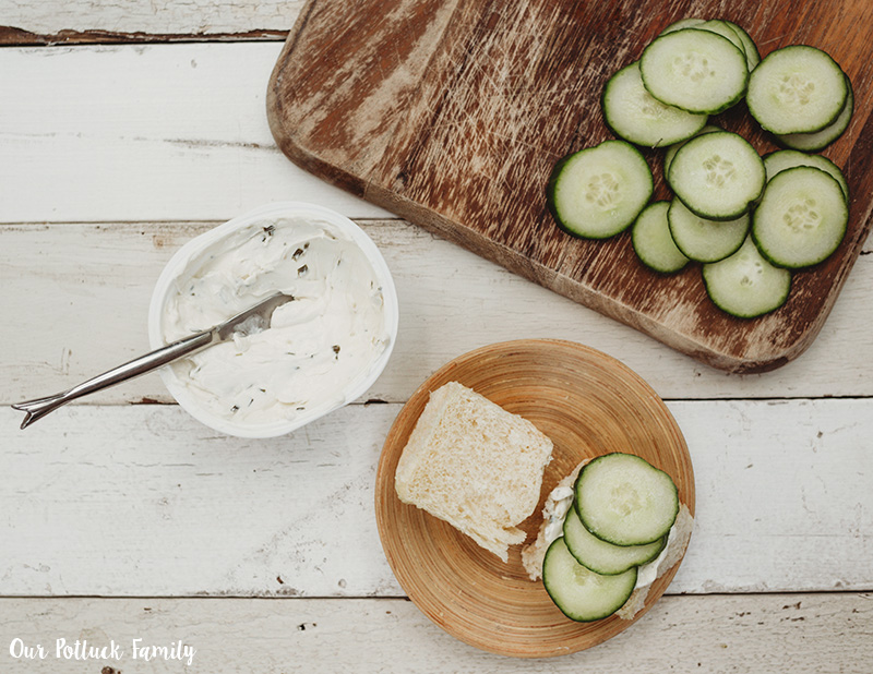 Delicious Vegetarian Sandwich cucumbers