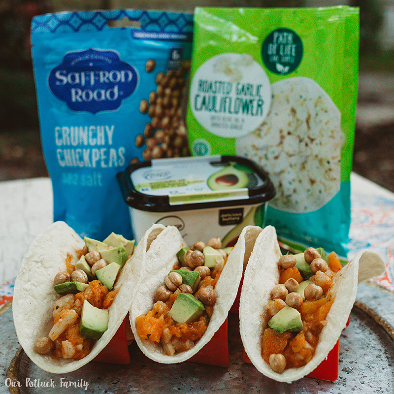 Cauliflower Butternut Squash Tacos three