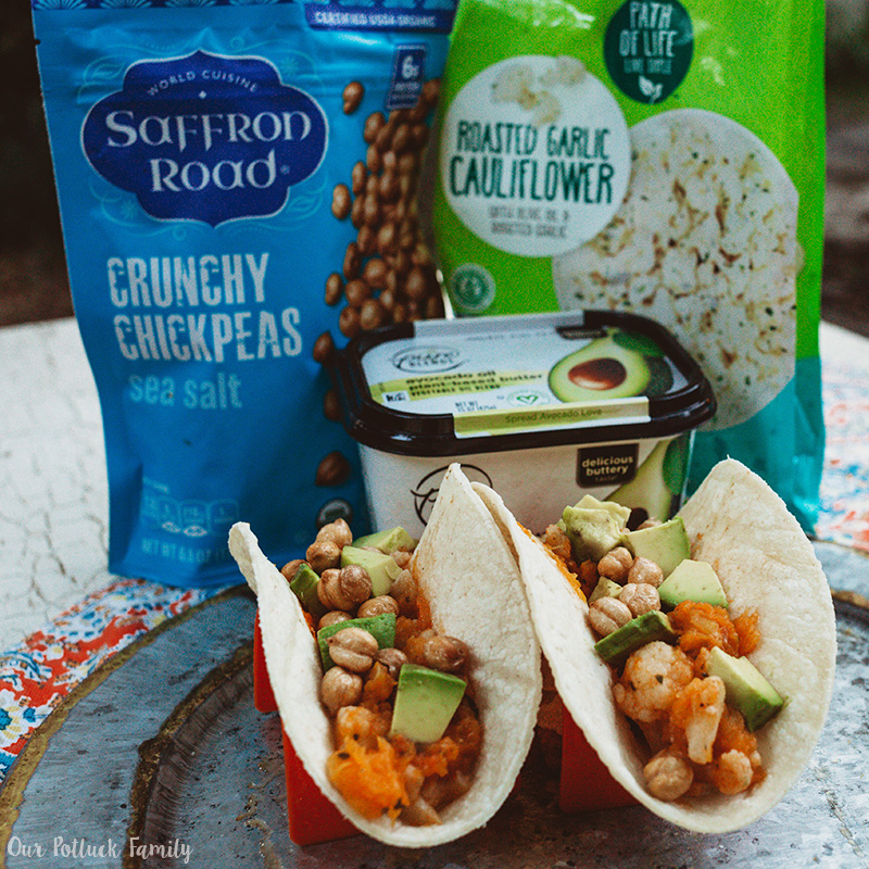 Cauliflower Butternut Squash Tacos two