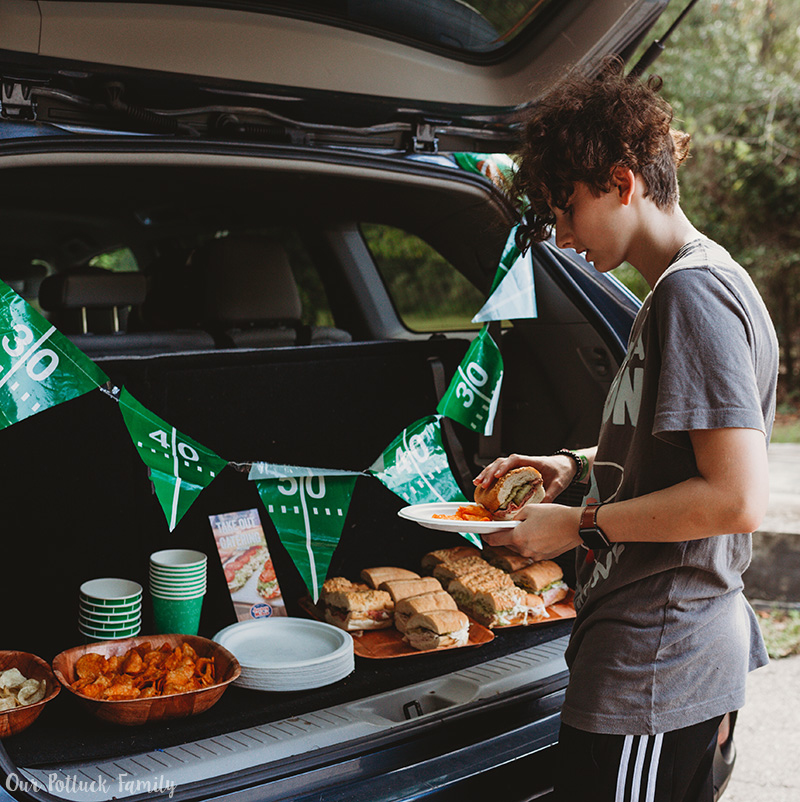 Easy Tailgating Tips food