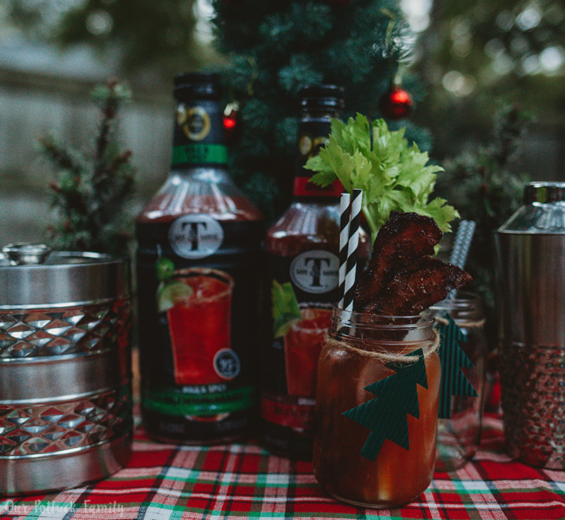 Holiday bloody mary bar instagram