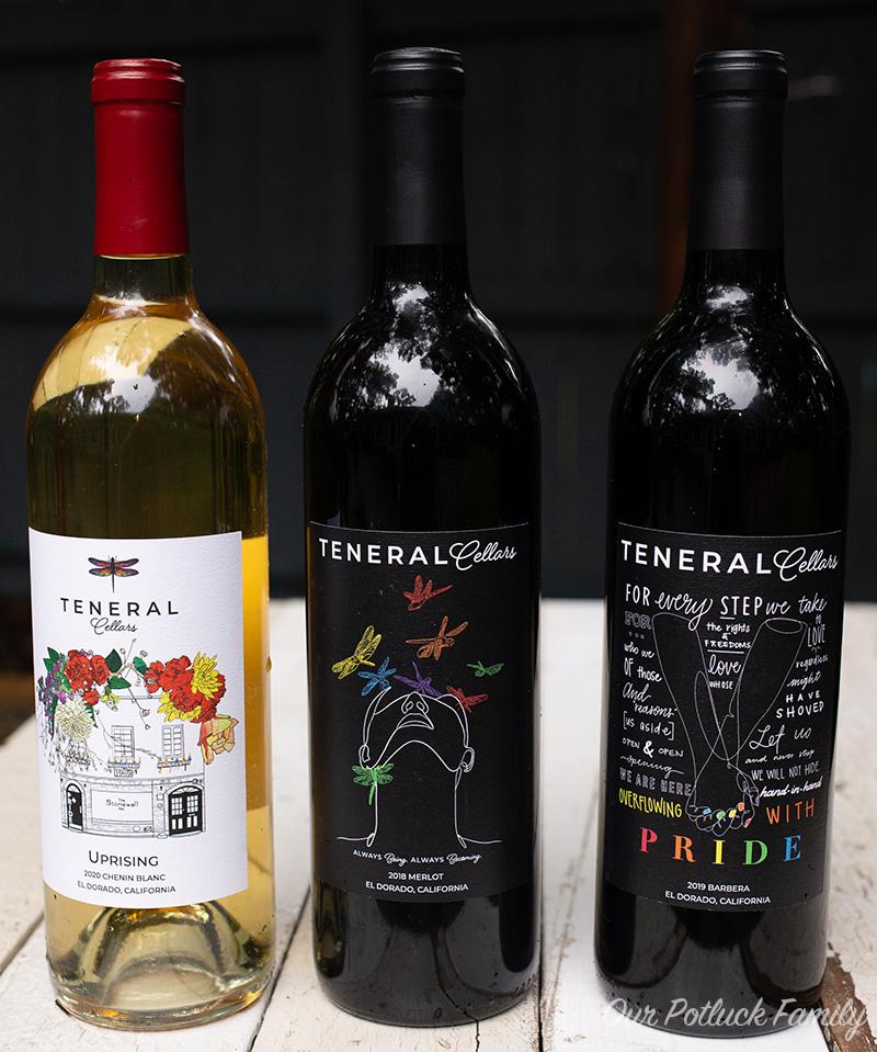 Teneral Cellars wine bottles